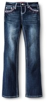 Seven7 Girls' Embellished Bootcut Jeans - Blue