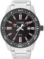 Citizen Red & Black Dial Bracelet Watch - Men