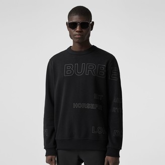 Burberry Horseferry Print Cotton Sweatshirt