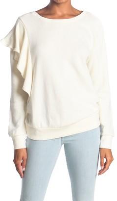 7 For All Mankind Asymmetrical Ruffle Sweatshirt