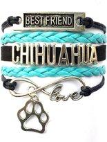 Generic Braided Chihuahua Bracelet Best Friend Dog Paw Charm