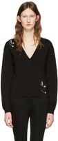Versus Black Safety Pin Pullover