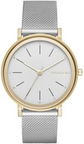 Skagen 'Hald' Round Mesh Strap Watch, 34mm