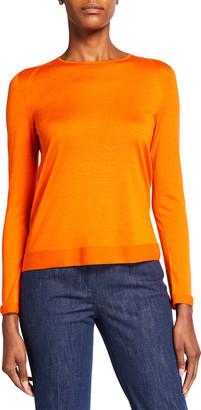 Akris Fine Gauge Cashmere-Silk Seamless Sweater