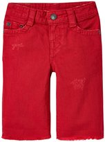 True Religion Geno Roll Up Shorts (Toddler/Kid) - Retro Red - 7