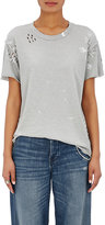 NSF Women's Moore Distressed Cotton T-Shirt-GREY
