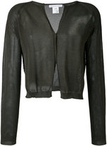 Fabiana Filippi net detail cardigan - women - Cotton - 42