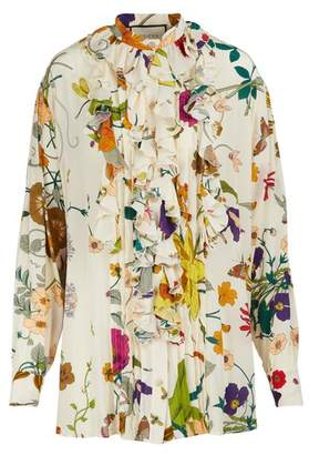 Gucci Flora silk shirt