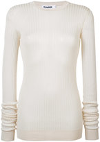 Jil Sander ribbed sweater - women - Silk - 34