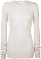 Jil Sander ribbed sweater - women - Silk - 38