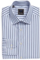 David Donahue Men's Regular Fit Stripe Dress Shirt