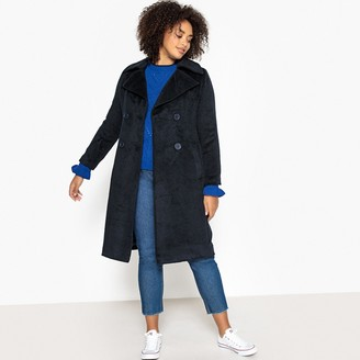 Castaluna Plus Size Mid-Length Double-Breasted Coat