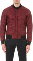 Armani Jeans Quilted crepe bomber jacket