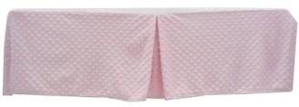 Minky TL Care Heavenly Soft Dot Tailored Crib Skirt, Pink, for Girls
