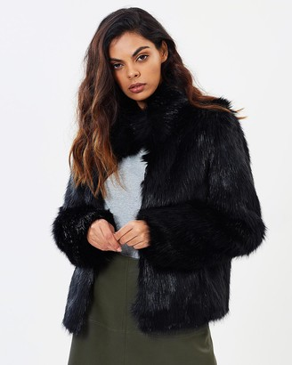Unreal Fur Women's Black Winter Coats - Delicious Jacket - Size One Size, XS at The Iconic