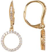 Nadri CZ & Crystal Circle Drop Earrings