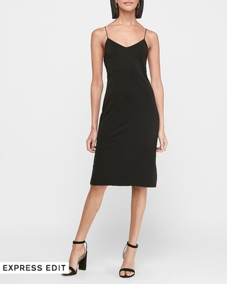 Express Soft Knit Midi Slip Dress