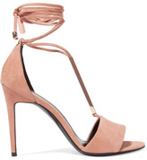 Pierre Hardy Blondie Suede Sandals - Neutral