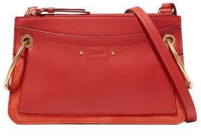 Chloé Roy Mini Leather And Suede Shoulder Bag