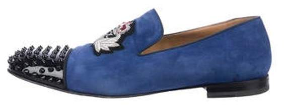 0e0d7dc9f40 Suede Slip-On Loafers blue Suede Slip-On Loafers