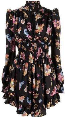 Versace Jeans Couture Versailles-print high-neck dress