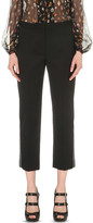 Alexander McQueen Slim-fit cropped wool trousers