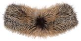 Brock Collection Grey & Brown Fur Scarf