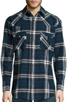 Ely Cattleman Long-Sleeve Brawny Flannel Snap-Front Western Shirt