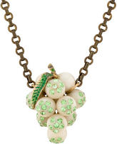 Lulu Frost Crystal Grapes Pendant Necklace