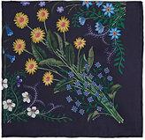 Gucci Men's Floral Silk Pocket Square