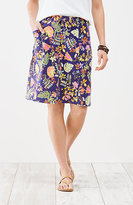J. Jill Multiseam Knit Drawstring Print Skirt