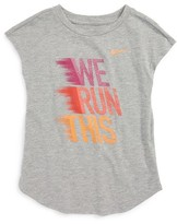 Nike Girl's We Run This Graphic Tee