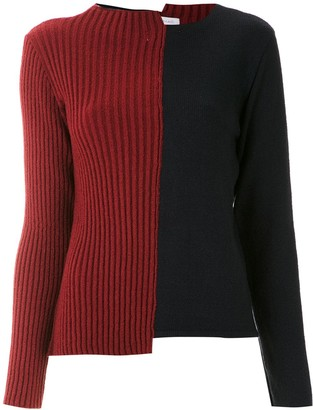 M·A·C Mara Mac color block asymmetric sweater
