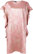 Rochas ruffled floral pattern dress - women - Silk/Polyester/Cupro - 40