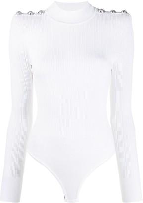 Balmain rib-knit bodysuit