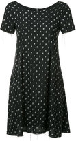 R 13 skull print dress - women - Silk - S