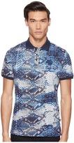 Just Cavalli Python Tie-Dye Print Polo Men's Clothing