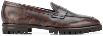 Etro Paisley-Print Loafers