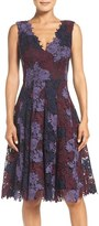 Vera Wang Women's Lace Fit & Flare Dress