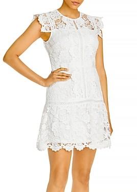 Aqua Lace Flounce Hem Mini Dress - 100% Exclusive