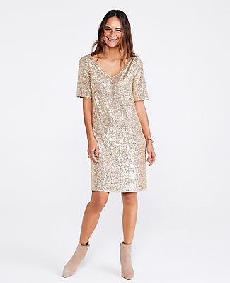 Ann Taylor Petite Sequin Shift Dress