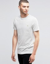 Farah T-Shirt With Spot In Slim Fit Ecru