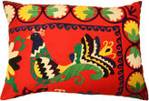 One Kings Lane Vintage Vintage Bird Suzani Pillow