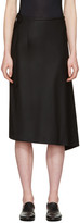 Y's Black Bias Tight Skirt