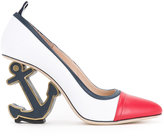 Thom Browne anchor heel pumps - women - Leather - 36
