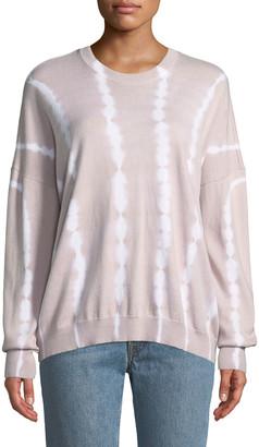 ATM Anthony Thomas Melillo Tie-Dye Cotton-Cashmere Crewneck Sweater