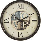 Asstd National Brand Live Laugh Love Wall Clock