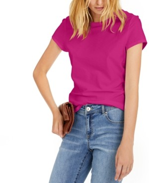 INC International Concepts Inc Petite Cotton T-Shirt, Created for Macy's