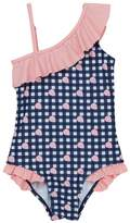 Andy & Evan Gingham Ruffle One-Piece Swimsuit (Toddler Girls)