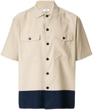 Ami Camp Collar Chest Pockets Short Sleeves Shirt
